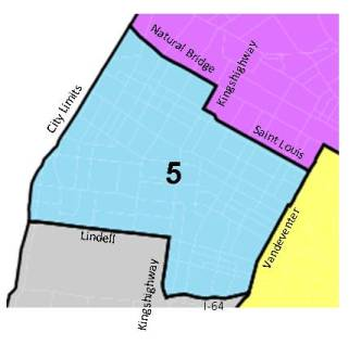Outline of District 5 Boundaries